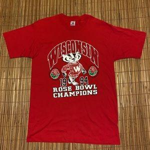 Vintage 1994 Wisconsin Badgers Rose Bowl Shirt